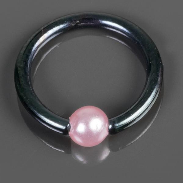 1,2mm Lippen Piercing Augenbrauen Piercing Tragus Helix Rosa Pink Perle Z481
