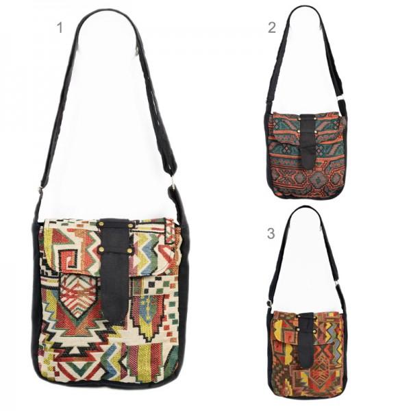 Umhängetasche Schulter Tasche Messenger Inka Indio Hippie Goa Vintage Retro BT14