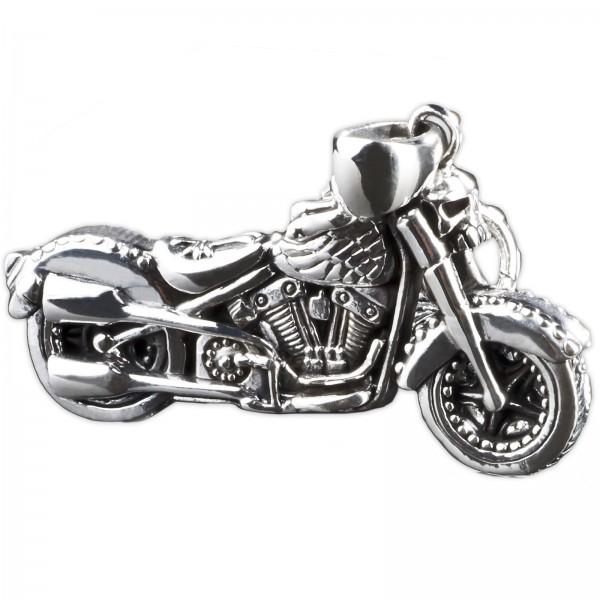 925 Silber Anhänger Bike massiv Motorrad Chopper Biker Ketten Anhänger AS29