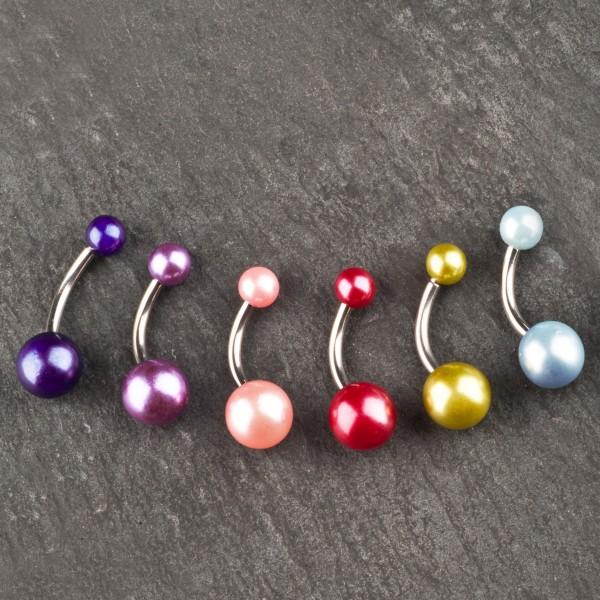 Bauchnabel Piercing Bauchnabel Banane Perle Perlmutt Perlen P1