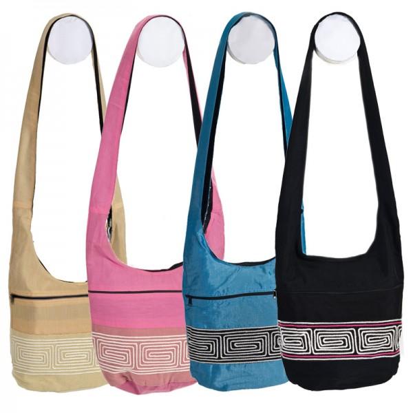 Beutel Tasche Umhängetasche Schultertasche Hippie Goa Stoff Tasche Ethno BT2