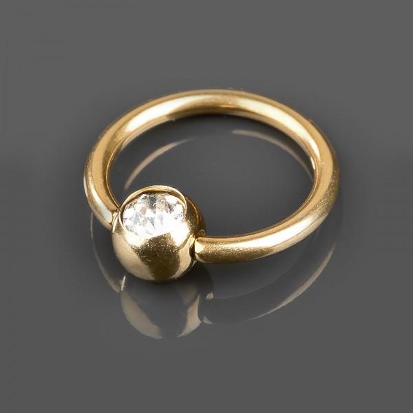 1,2 x 8 mm Lippenbändchen Piercing Ring Zirkonia Helix Tragus BCR Klemmring Z296