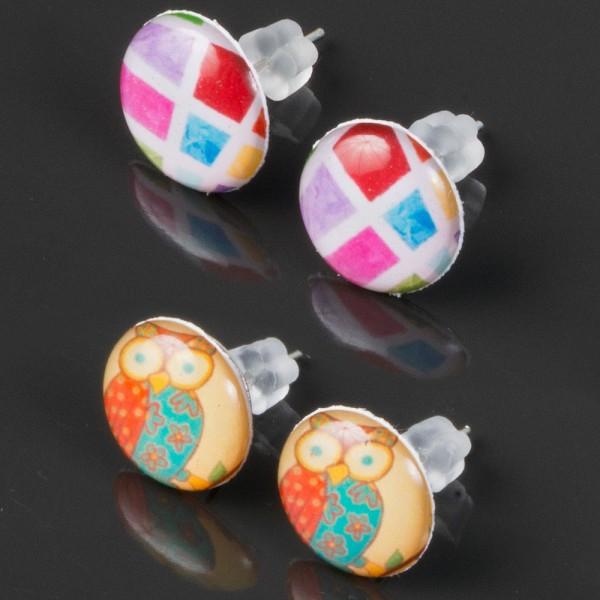 1 Paar Motiv Ohr Stecker Ohrringe Ohr Piercing Rockabilly WS17