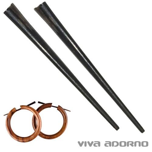 1 Paar Ersatz Stäbchen Horn Stäbe Horn Pin für Holz Ohrringe Ersatz Stab WP00