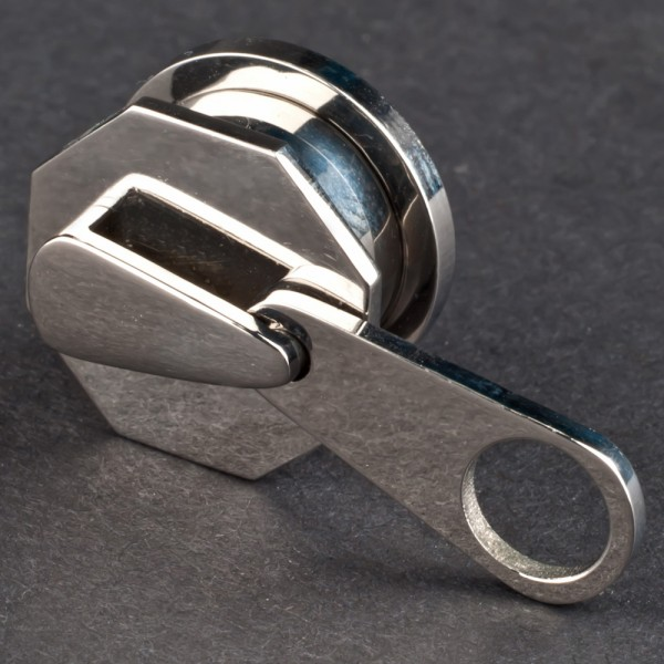4-16mm Plug Flesh Tunnel Stahl Reißverschluss Zipper Ohr Piercing Z111