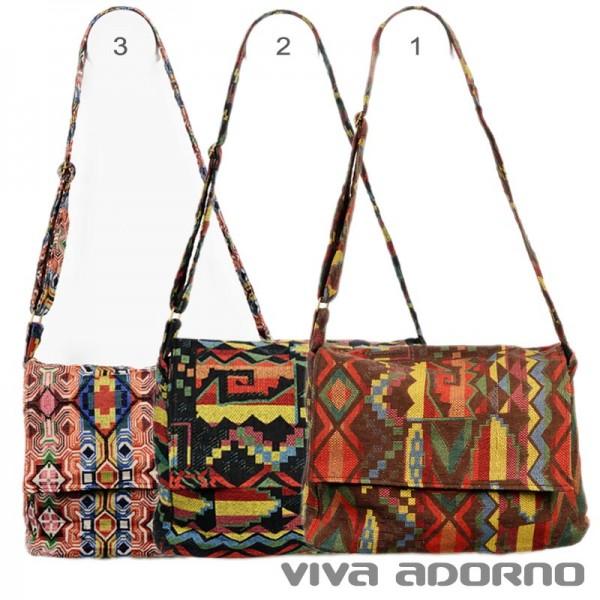 Umhängetasche Schulter Tasche Messenger Inka Indio Hippie Goa Vintage Retro BT15