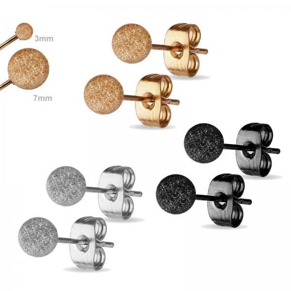 1 Paar Ohr Stecker Edelstahl Ohrringe Glitzer Kugeln diamantiert Kugel Z514