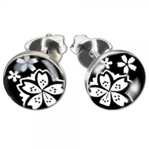 1 Paar Ohr Stecker Hibiskus Blüten Blumen Edelstahl Ohrringe Rockabilly Z301