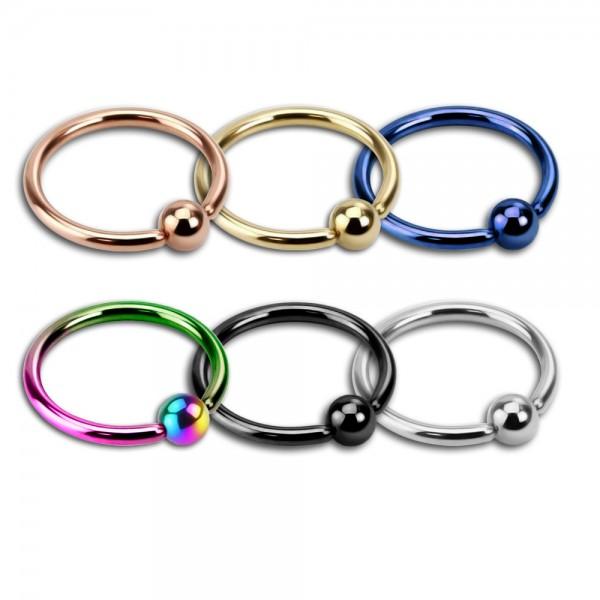 6er Set o. einzeln Augenbrauen Piercing BCR Ring Klemmring Lippe Ohr Intim Z53s