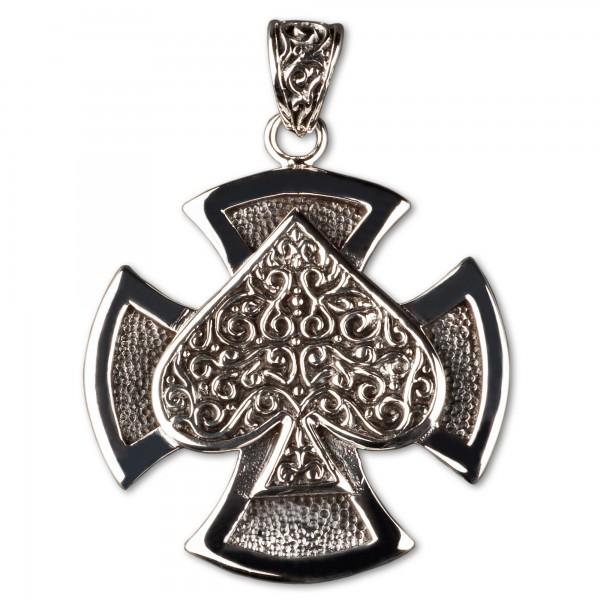 Anhänger Eisernes Kreuz Iron Cross Pik 925 Silber AS5