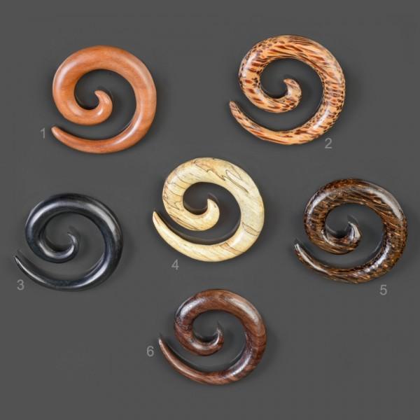 4-30mm Dehnungsspirale Holz Expander Taper Sichel Spirale Ohr Piercing Horn WP3