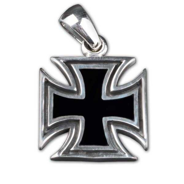 925 Silber Anhänger Eisernes Kreuz Iron Cross Biker Freimaurer Malteser AS61