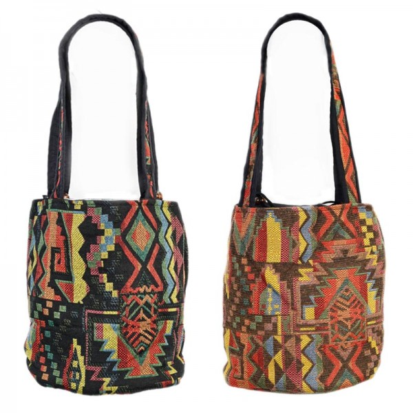 Beutel Tasche Umhängetasche Schulter Tasche Hobo Inka Indio Hippie Vintage BT16