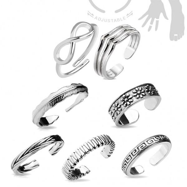 Ring Zehenring Mittelring Midi Zehen Ring Damenring verstellbar Zehring Z532