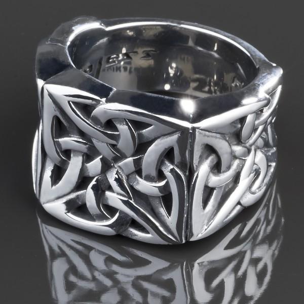 KoolKatana Edelstahl Ring Keltisch Fingerring Biker silber Tribal Gothic RS40