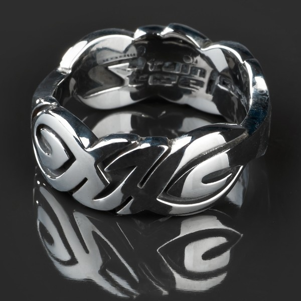KoolKatana Edelstahl Ring Tribal Gothic Fingerring Biker Keltisch silber RS21