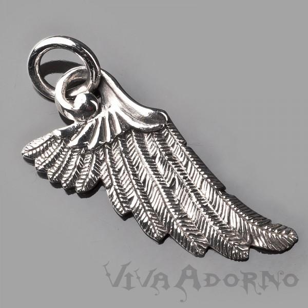 925 Sterling Silber Anhänger Engel Flügel Wings Engelsflügel Gothic Biker AS27