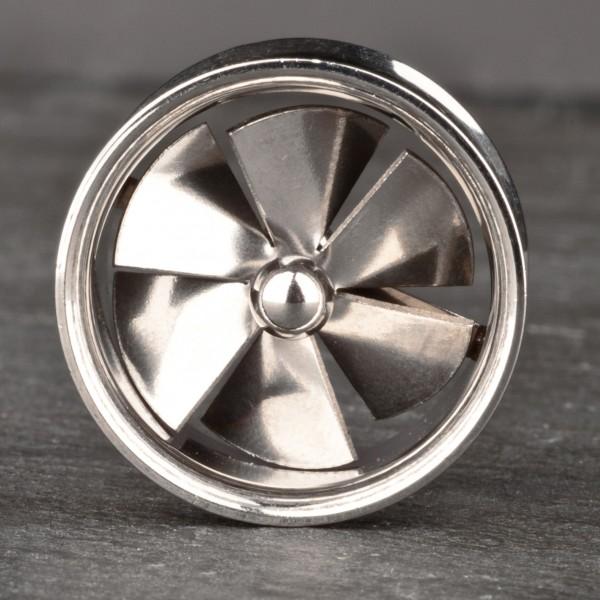 8-20mm Spinning Flesh Tunnel Plug Turbine Propeller Ventilator Stahl Z1