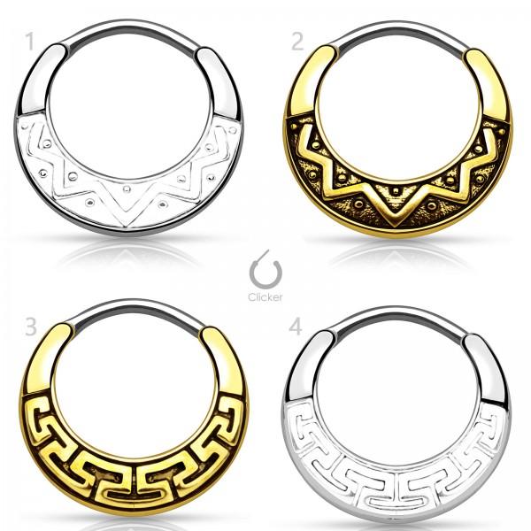 Nasen Piercing Nasen Ring Septum Clicker Helix Schild Ohr Maya Tribal Z484