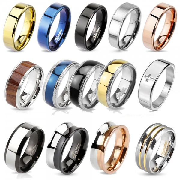 Damen Ring Herren Ring Edelstahl Ring Band Ring Partnerringe RS53