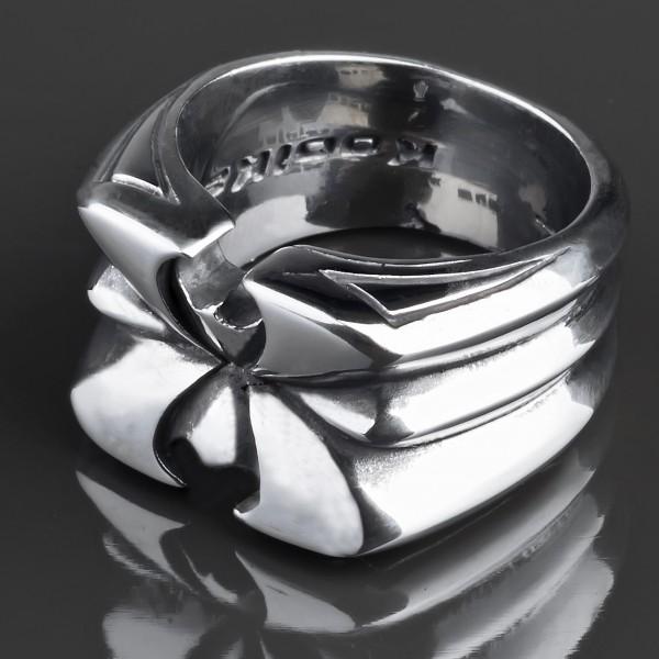 KoolKatana Edelstahl Ring Tribal Fingerring Biker Gothic silber RS33