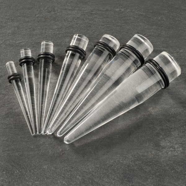 1,6-30mm Dehnungsstab Expander transparent klar Ohr Taper Acryl Plug EX0