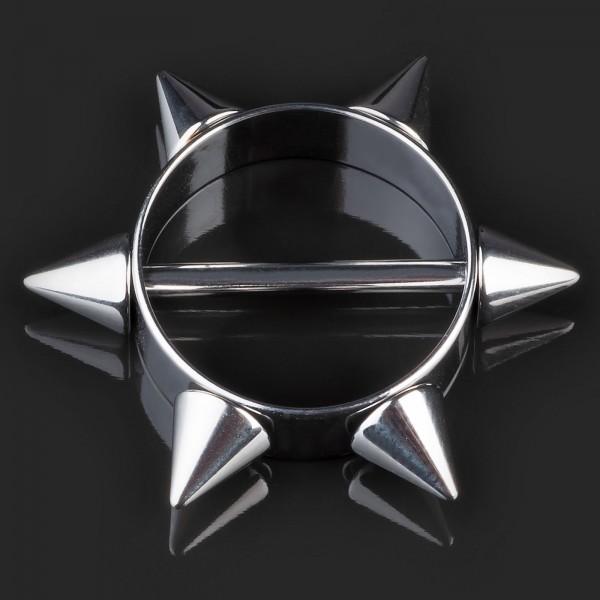 Brust Piercing Nippel Piercing Shield Spikes Schild Spitzen Barbell Hantel Z337