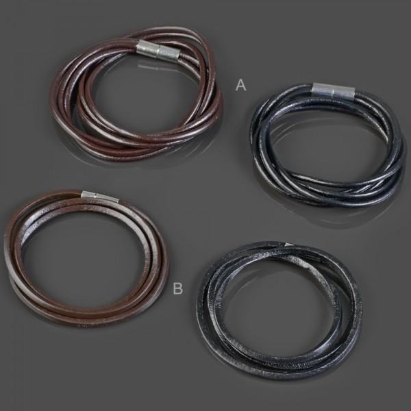 Echt Leder Armband Leder Kette Halskette Surfer Wickel Armband LB39