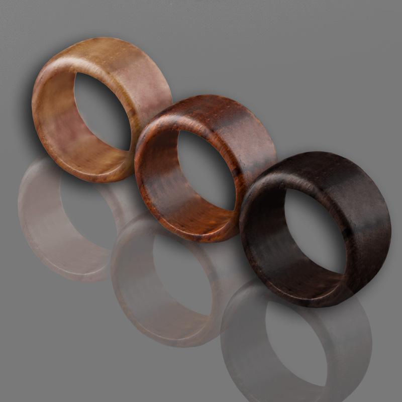 Holz Ring handgefertigt Fingerring Blume Blüte Blümchen Damen Ring Goa CR76