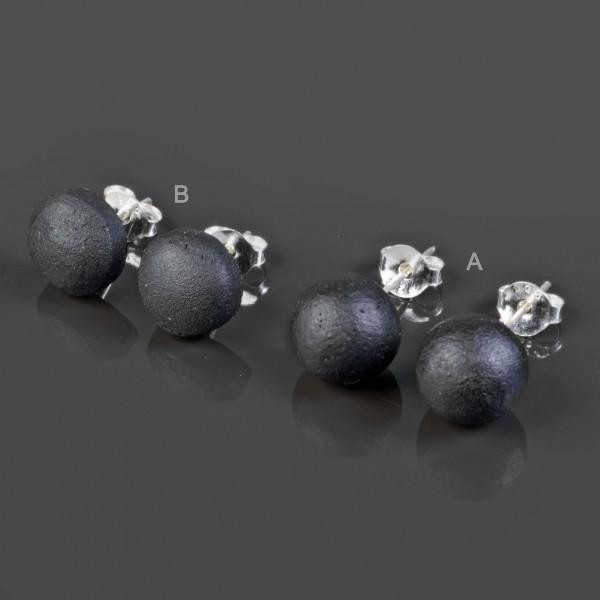 1 Paar Ohrstecker Holz Kugel Perle Holz Ohrringe Stecker Edelstahl Silber WS6