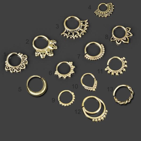 Ohr Piercing Ring Nasen Ring Messing Septum Vintage Antik Tragus Helix Bali Z496