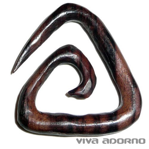 4-8mm Holz Spirale Dehnungsspirale Sichel Ohr Piercing Expander Naturschmuck WX2