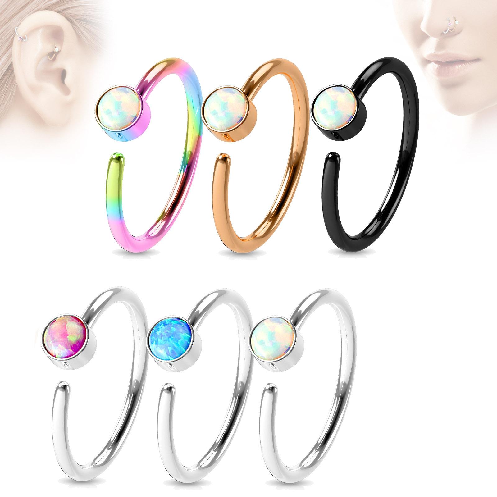 1,2 x 8 mm Lippenbändchen Piercing Ring G23 Titan Zirkonia Helix Tragus BCR Z230