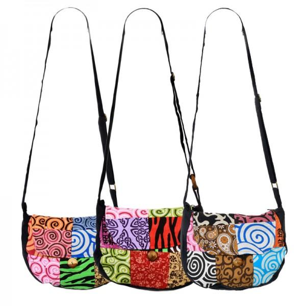 Patchwork Umhängetasche Handtasche Schultertasche Hippie Goa Boho Ethno BT12