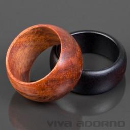 Design Holz Ring handgefertigt Fingerring Natur Schmuck Damen Ring Goa CR18