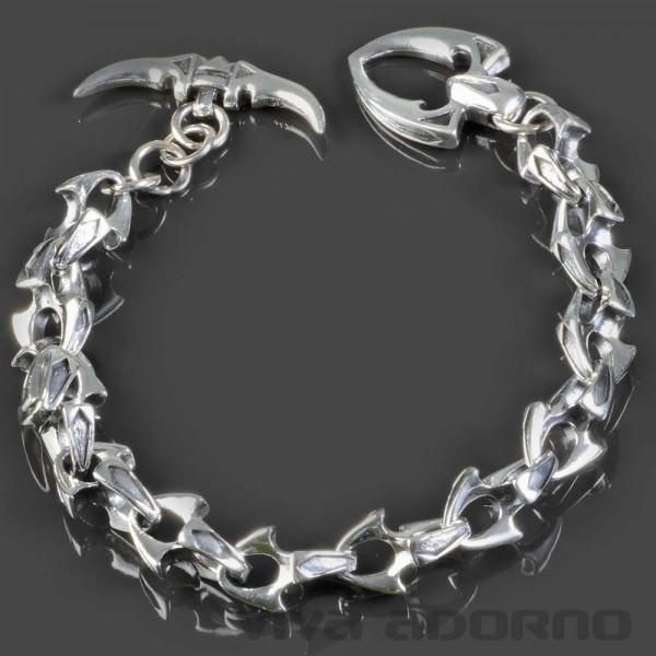 925 silber herren armband biker gothic panzer armband. Black Bedroom Furniture Sets. Home Design Ideas