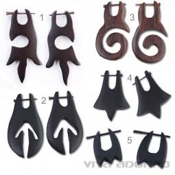 1 Paar Holz Ohrringe Holz Creolen Ohr Piercing Ohr Piercing Naturschmuck WE88