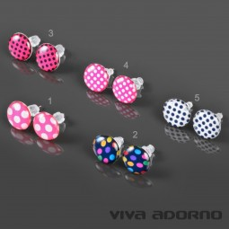1 Paar Motiv Ohr Stecker Ohrringe Ohr Piercing gepunktet Rockabilly WS17a