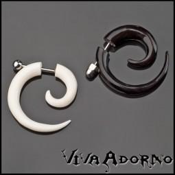 Fake Spirale Horn Knochen Ohr Piercing Ohr Stecker Bone Fake Plug Z133