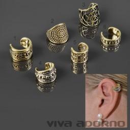 Ear Cuff Ohrklemme Ohr Clip Ohr Bügel Ohrring Messing Vintage Antik Bali Z494
